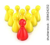 leadership concept. one red... | Shutterstock . vector #358424252