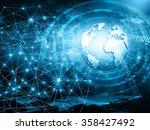 best internet concept of global ... | Shutterstock . vector #358427492