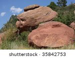 red rocks and desert brush | Shutterstock . vector #35842753