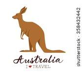 Australian Kangaroo. Vector...