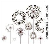 stylized flowers | Shutterstock .eps vector #35843326