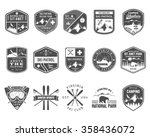 set of ski club patrol labels.... | Shutterstock .eps vector #358436072