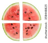 Watermelon Slices Isolated On...