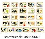 cute alphabet. letters and... | Shutterstock .eps vector #358453328