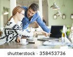 business urban people indoor on ... | Shutterstock . vector #358453736