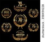 anniversary golden laurel... | Shutterstock .eps vector #358454228