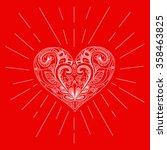 hand drawn vector heart. this... | Shutterstock .eps vector #358463825
