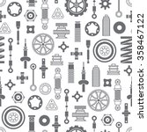 car spare parts flat icons... | Shutterstock .eps vector #358467122
