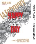valentines day party flyer... | Shutterstock .eps vector #358471832
