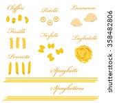 macaroni set raster  pasta... | Shutterstock . vector #358482806