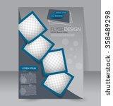 brochure design. flyer template.... | Shutterstock .eps vector #358489298