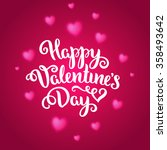 happy valentine's day card.... | Shutterstock .eps vector #358493642