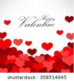 valentine heart on a white... | Shutterstock .eps vector #358514045