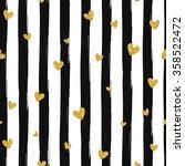 gold glittering heart confetti... | Shutterstock .eps vector #358522472