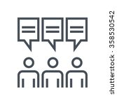 focus group icon suitable for... | Shutterstock .eps vector #358530542