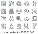 start up business icon set... | Shutterstock .eps vector #358531046