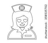nurse face emotion icon... | Shutterstock .eps vector #358535702