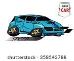 super car blue | Shutterstock .eps vector #358542788