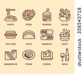 food icon set  | Shutterstock .eps vector #358543718
