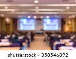 blur of business conference and ... | Shutterstock . vector #358546892