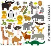 animal africa  parrot hyena... | Shutterstock . vector #358552196