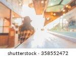 blur image of japan restaurant... | Shutterstock . vector #358552472