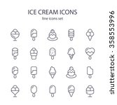 ice cream icons. | Shutterstock .eps vector #358553996