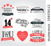 happy valentine's day banner... | Shutterstock .eps vector #358558112