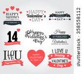 happy valentine's day banner... | Shutterstock .eps vector #358558112