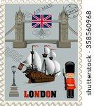 london tower bridge. british... | Shutterstock .eps vector #358560968