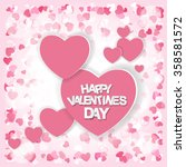 happy valentines day card.... | Shutterstock .eps vector #358581572