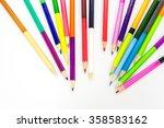 colored pencils | Shutterstock . vector #358583162