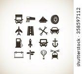 transport  icons  | Shutterstock .eps vector #358597112