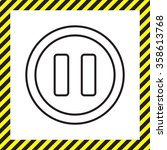 pause vector line icon | Shutterstock .eps vector #358613768