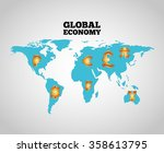 global economy design  | Shutterstock .eps vector #358613795