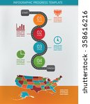 road infographics with four... | Shutterstock .eps vector #358616216