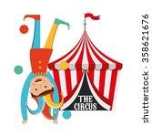 circus entertainment design  | Shutterstock .eps vector #358621676
