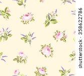vintage flower pattern. | Shutterstock .eps vector #358622786