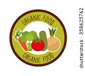 health and organic food design  | Shutterstock .eps vector #358625762