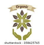 health and organic food design  | Shutterstock .eps vector #358625765