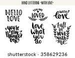 quotes. valentine lettering... | Shutterstock .eps vector #358629236