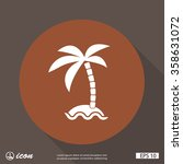 pictograph of island | Shutterstock .eps vector #358631072