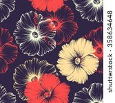 vector seamless pattern with... | Shutterstock .eps vector #358634648