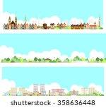vector city illustration | Shutterstock .eps vector #358636448