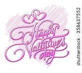 happy valentines day vector... | Shutterstock .eps vector #358637552