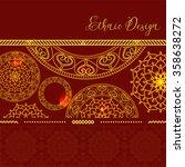 card with golden mandala.... | Shutterstock .eps vector #358638272