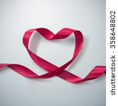pink ribbon heart. vector... | Shutterstock .eps vector #358648802