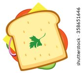 sandwich icon  illustration of... | Shutterstock .eps vector #358651646
