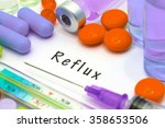 reflux  diagnosis written on a...   Shutterstock . vector #358653506