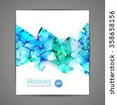 abstract triangular 3d... | Shutterstock .eps vector #358658156